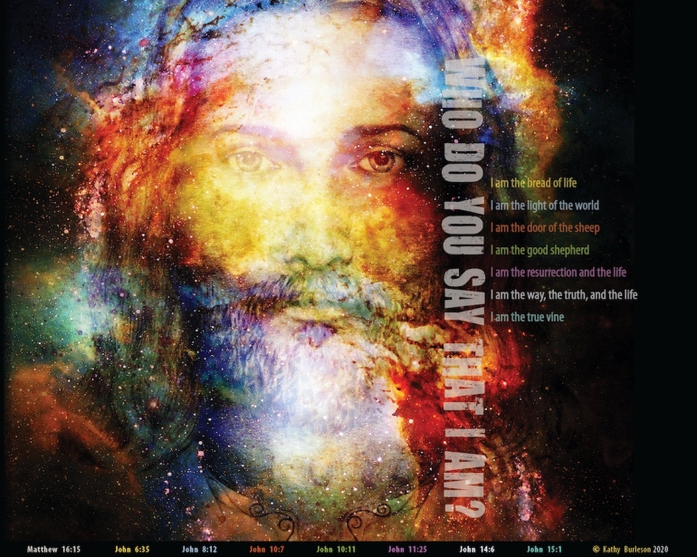 """My latest poster featuring the 7 """"I am"""" Claims that Jesus made in the Gospel of John"""