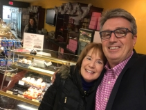 Finally! Winter of 2017, Mike meets up at Pastry Xpo Cafe to PAY UP!